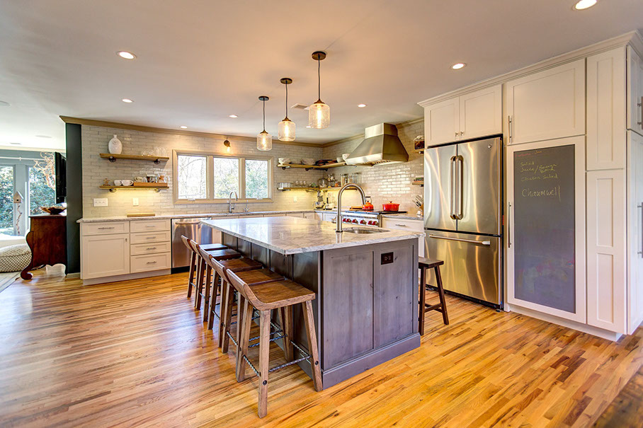kitchen design naperville. the white paint and simple recessed