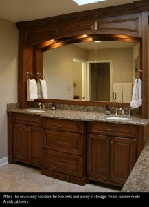 Custom Bathroom Vanities Naperville bathroom remodeling photo galleryq's cabinet shoppe in